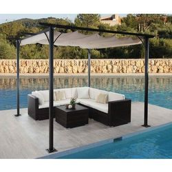Garden point Pergola tarasowa wolnostojąca teneryfa 3 x 3m kremowy - transport gratis!