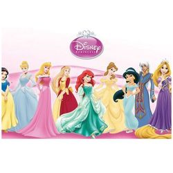 Dekoracyjny opłatek tortowy Princess - Księżniczki - A4