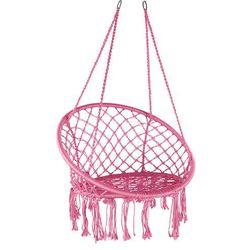 Domarex Wiszący fotel-huśtawka Luna różowy, 60 x 80 x 120 cm (5902340662861)
