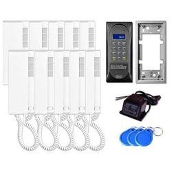 Aco Domofon wielolokatorski cdnp6acc dla 10 lokatorów.