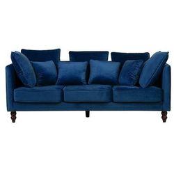 Sofa trzyosobowa tapicerowana ciemnoniebieska FENSTAD
