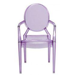 Krzesło dziecięce mini royal junior inspirowane louis ghost - fioletowy ||transparentny marki Producent: elior