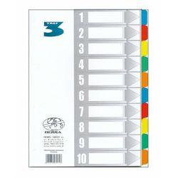Przekładki kartonowe laminowane A4 1-10 kolorowe (5901878230726)