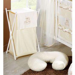 MAMO-TATO Kosz na bieliznę Śpioch na chmurce ecru