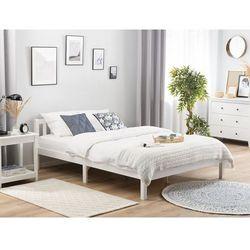 Łóżko drewniane 140 x 200 cm białe FLORAC, kolor biały