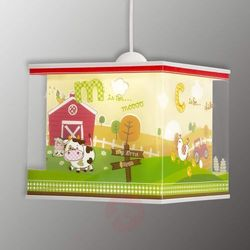 Dalber 64402 - Lampa wisząca dziecięca MY LITTLE FARM 1xE27/60W/230V, NR. 64402