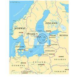 Fototapeta Obszar Morza Bałtyckiego Mapa polityczna ze sklepu REDRO