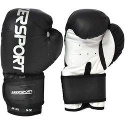 Rękawice bokserskie AXER SPORT A1344 Czarno-Biały (14 oz) z kategorii Rękawice do walki