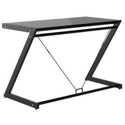 Unique Biurko dd z-line desk plus (120x60 cm) czarny stelaż i białe szkło