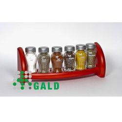 półka z przyprawami 6-el czerwony mat 5904006098885 marki Gald