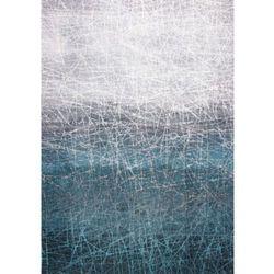 C&m Niebieski dywan nowoczesny polar vortex