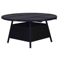 Czarujący stół ogrodowy Viza 2Q - czarny