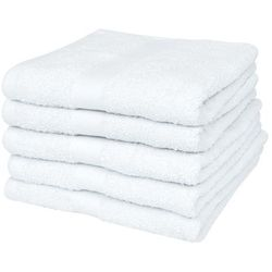 Ręczniki hotelowe, 50 szt., bawełna, 400 g/m², 30x30 cm, białe marki Vidaxl