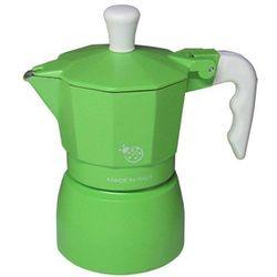 Kawiarka Top Moka Coccinella zielona - 1 filiżanka