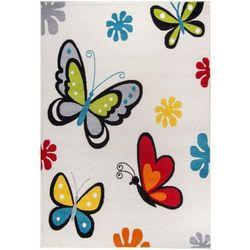 Roomzone.pl Dywan dziecięcy komfort easy motyl 180x270 biały