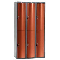 Ekskluzywne szafy osobiste 3x2 schowki w pionie Kolor drzwi: Czerwony met