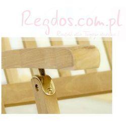 Leżak ogrodowy divero florentine z drewna tekowego - produkt z kategorii- Leżaki ogrodowe
