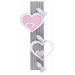 Nowodvorski Listwa heart iii a 9063 lampa oprawa sufitowa 3x50w gu10 biała/rózowa/szara (5903139906395)