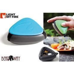 Salt and pepper plus Light my fire - turystyczny pojemnik na przyprawy - kolor niebieski