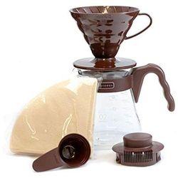 Hario zestaw V60 02 Coffee Server Set brązowy (4977642020658)