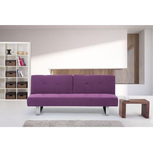 Rozkladana sofa ruchome oparcie - DUBLIN fuksja - oferta [25fedfae6fa364ec]