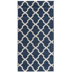 Dekoria Dywan Cottage blue/ wool 67x130cm, 67 × 130 cm