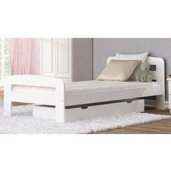 Łóżko Klaudia 90x200 białe z materacem bonellowym