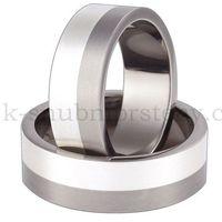 Tytanowe obrączki ślubne z srebrem TS58-7 (Tytanowe obrączki)