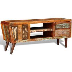 vidaXL Drewniana półka pod TV vintage z drzwiami i 2 szufladami - produkt z kategorii- półki rtv