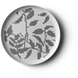 Menu - Talerz Grey Leaves - mały - mały