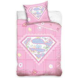 4home Carbotex pościel do łóżeczka little supergirl, 100 x 135 cm, 40 x 60 cm