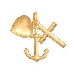 Rodium Krzyżyk złoty pr. 585 - 38150