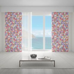 Zasłona okienna na wymiar - OLD-TIME MOSAIC PASTEL