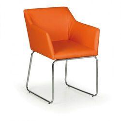 Krzesło konferencyjne KONSTRUKT, pomarańczowy, 2 szt.