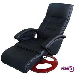 masujący fotel elektryczny ze sztucznej skóry, czarny marki Vidaxl
