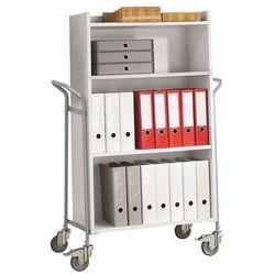 Wózek biurowy, na segregatory, nośność 150 kg, dł. x szer. x wys. 950x455x1380 m marki Unbekannt