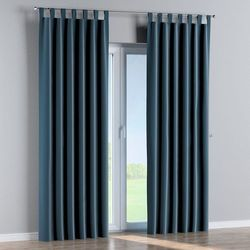 Dekoria zasłona na szelkach 1 szt., pruski błękit, 1szt 130 × 260 cm, velvet