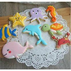 Plastikowe foremki wykrawacze ciastek 8 szt morskie zwierzęta marki Chinatrade