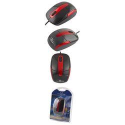 Esperanza Titanum mysz przewodowa, optyczna, dpi 1000, 3 przyciski, barracuda tm108k - czarno/czerwona (5901299901762)
