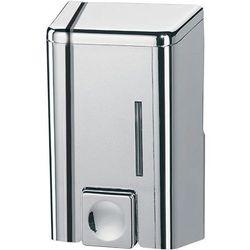 Dozownik do mydła w płynie 0,5 litra Bisk plastik srebrny