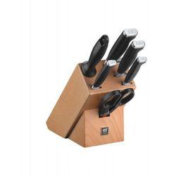 - twin four star zestaw 4 noży z nożyczkami, ostrzałką i blokiem marki Zwilling