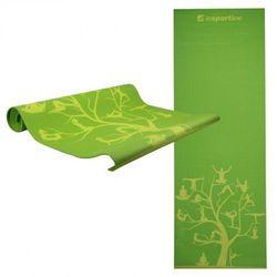 Insportline Mata do ćwiczeń  spirit joga, aerobik 172 x 61 cm - kolor zielony