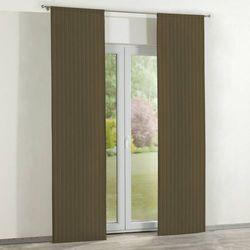 Dekoria zasłony panelowe 2 szt., zielona prążkowana tkanina, 60 x 260 cm, wyprzedaż do -30%