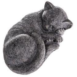 Ogrodowa betonowa dekoracja Śpiący kot, 28 x 12 x 18,5 cm (8596265091416)