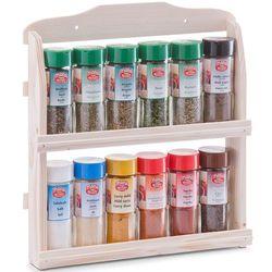 Zeller 12 pojemników z przyprawami i ziołami + drewniany stojak,