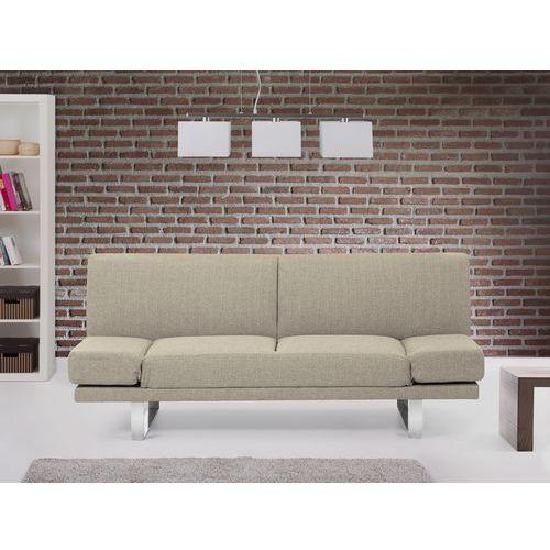 Rozkladana sofa ruchome podlokietniki - YORK bezowoszary, Beliani z Beliani