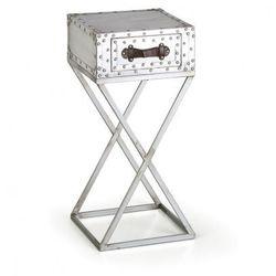 B2b partner Stolik z szufladami metal, wysoki, 35 x 35 x 75 cm
