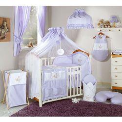 pościel 14-el miś w hamaku w fiolecie do łóżeczka 70x140cm - moskitiera marki Mamo-tato