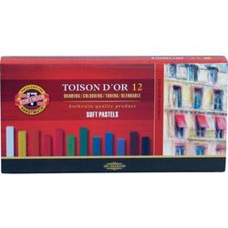 Pastele suche Koh-i-noor Toison D`or 12 kolorów oferta ze sklepu Biurwa.pl