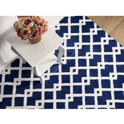 Beliani Dywan niebieski 160 x 230 cm krótkowłosy serres (7105276057642)